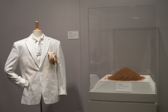 White Suit and Red Earth from Inhumation, 2012
