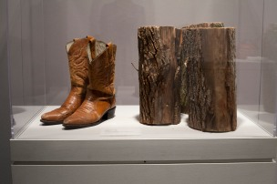 Boots and Repaired Logs from The Collapse of Order, 2012