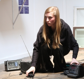 in/discrete in/discreet transmissions with Mason Brown, 2014; FM broadcast, FX, speakers, radios, performance